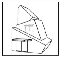 ※実線と破線で描き分けた商標見本の例