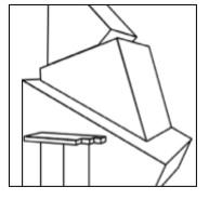 商標を構成する部分の端が切れている商標見本の例