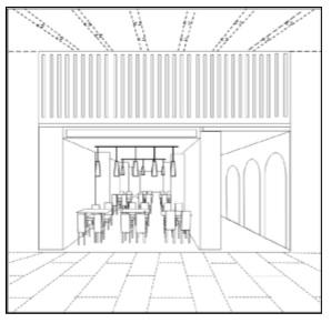 外観・内装の双方を含む立体商標の例